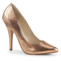 SEDUCE-420 erotische Pleaser High-Heels Stiletto Pumps roségold Metallic Lederoptik