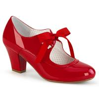 WIGGLE-32 Pin Up Couture veganer Mary Jane Damen Pumps Herz Cutouts rot Lack
